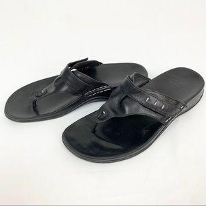 Clark's Adjustable leather Thong Sandal